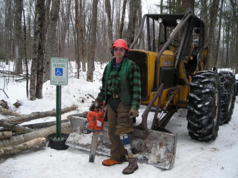 Gary Edinger out in the woods of Wisconsin